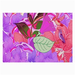 Abstract Design With Hummingbirds Large Glasses Cloth