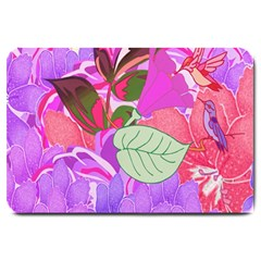 Abstract Design With Hummingbirds Large Doormat