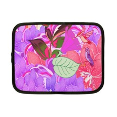 Abstract Design With Hummingbirds Netbook Case (Small)