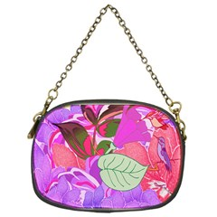 Abstract Design With Hummingbirds Chain Purses (one Side)