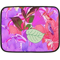 Abstract Design With Hummingbirds Double Sided Fleece Blanket (Mini)