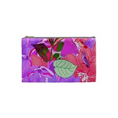 Abstract Design With Hummingbirds Cosmetic Bag (small)