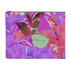 Abstract Design With Hummingbirds Cosmetic Bag (xl)