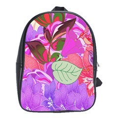 Abstract Design With Hummingbirds School Bags(Large)
