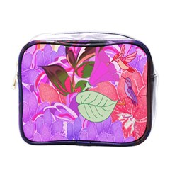 Abstract Design With Hummingbirds Mini Toiletries Bags