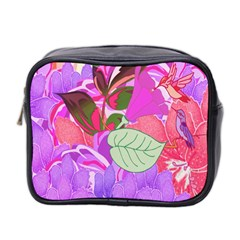 Abstract Design With Hummingbirds Mini Toiletries Bag 2-Side