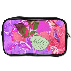 Abstract Design With Hummingbirds Toiletries Bags