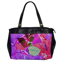 Abstract Design With Hummingbirds Office Handbags