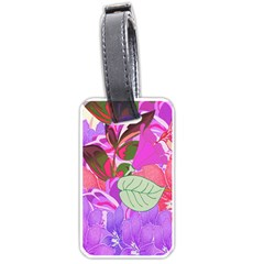 Abstract Design With Hummingbirds Luggage Tags (two Sides)