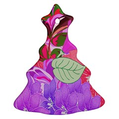 Abstract Design With Hummingbirds Christmas Tree Ornament (Two Sides)