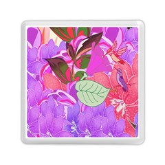 Abstract Design With Hummingbirds Memory Card Reader (Square)