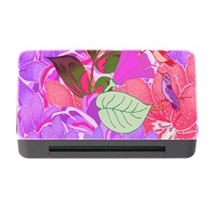 Abstract Design With Hummingbirds Memory Card Reader with CF