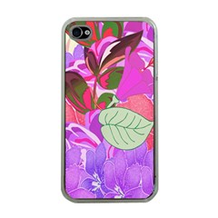Abstract Design With Hummingbirds Apple Iphone 4 Case (clear)