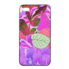 Abstract Design With Hummingbirds Apple Iphone 4/4s Seamless Case (black)