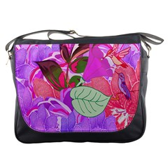 Abstract Design With Hummingbirds Messenger Bags