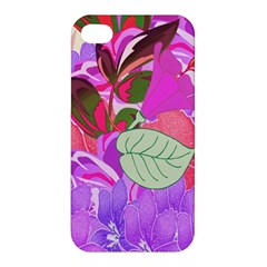 Abstract Design With Hummingbirds Apple Iphone 4/4s Premium Hardshell Case