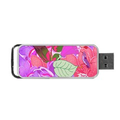Abstract Design With Hummingbirds Portable Usb Flash (two Sides)