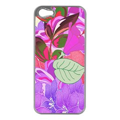 Abstract Design With Hummingbirds Apple Iphone 5 Case (silver)