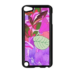 Abstract Design With Hummingbirds Apple Ipod Touch 5 Case (black)