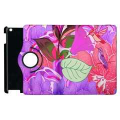 Abstract Design With Hummingbirds Apple Ipad 3/4 Flip 360 Case