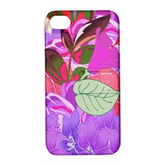 Abstract Design With Hummingbirds Apple iPhone 4/4S Hardshell Case with Stand