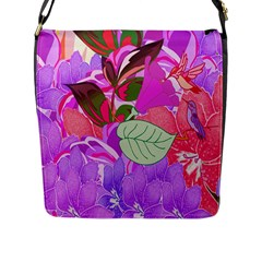 Abstract Design With Hummingbirds Flap Messenger Bag (L)