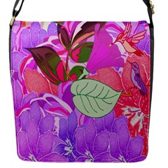 Abstract Design With Hummingbirds Flap Messenger Bag (S)