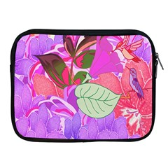 Abstract Design With Hummingbirds Apple Ipad 2/3/4 Zipper Cases