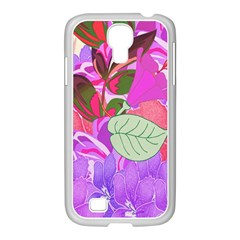 Abstract Design With Hummingbirds Samsung Galaxy S4 I9500/ I9505 Case (white)