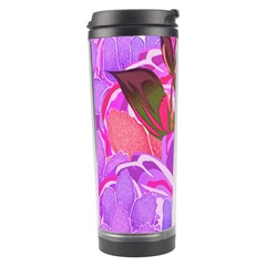 Abstract Design With Hummingbirds Travel Tumbler