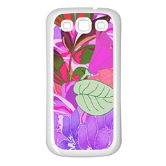 Abstract Design With Hummingbirds Samsung Galaxy S3 Back Case (White)