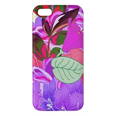 Abstract Design With Hummingbirds Iphone 5s/ Se Premium Hardshell Case