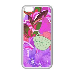 Abstract Design With Hummingbirds Apple Iphone 5c Seamless Case (white)