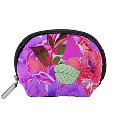 Abstract Design With Hummingbirds Accessory Pouches (Small)