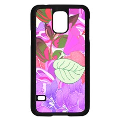 Abstract Design With Hummingbirds Samsung Galaxy S5 Case (Black)