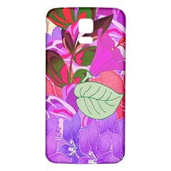 Abstract Design With Hummingbirds Samsung Galaxy S5 Back Case (white)