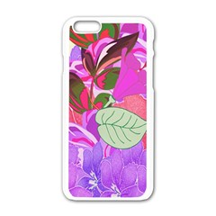 Abstract Design With Hummingbirds Apple Iphone 6/6s White Enamel Case