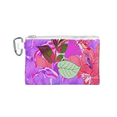 Abstract Design With Hummingbirds Canvas Cosmetic Bag (S)