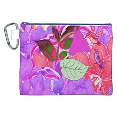 Abstract Design With Hummingbirds Canvas Cosmetic Bag (xxl)