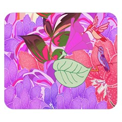 Abstract Design With Hummingbirds Double Sided Flano Blanket (small)