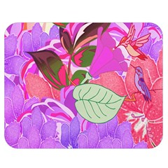 Abstract Design With Hummingbirds Double Sided Flano Blanket (Medium)