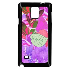 Abstract Design With Hummingbirds Samsung Galaxy Note 4 Case (Black)