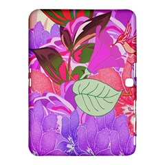 Abstract Design With Hummingbirds Samsung Galaxy Tab 4 (10.1 ) Hardshell Case