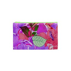 Abstract Design With Hummingbirds Cosmetic Bag (xs)