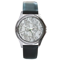 The Abstract Design On The Xuzhou Art Museum Round Metal Watch