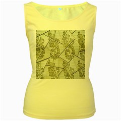 The Abstract Design On The Xuzhou Art Museum Women s Yellow Tank Top
