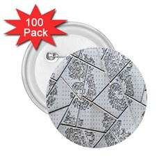 The Abstract Design On The Xuzhou Art Museum 2 25  Buttons (100 Pack)