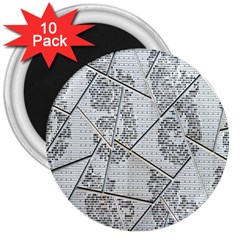 The Abstract Design On The Xuzhou Art Museum 3  Magnets (10 Pack)