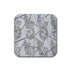 The Abstract Design On The Xuzhou Art Museum Rubber Coaster (Square)