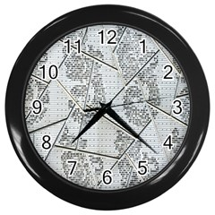 The Abstract Design On The Xuzhou Art Museum Wall Clocks (black)